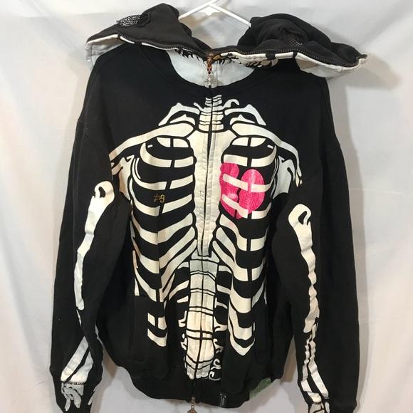 Lrg Shirts Skeleton Full Zip Up Hoodie Size Xl Poshmark